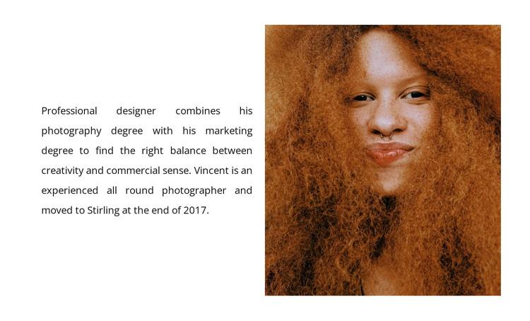 The designer welcomes you Joomla Template