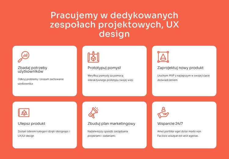 Specjalizacja w projektowaniu UX Szablon witryny sieci Web