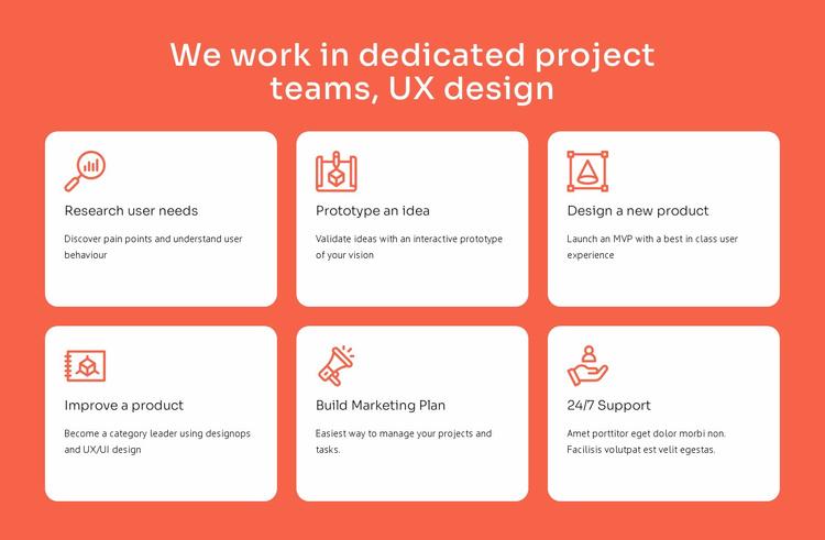 UX design specialization Website Template