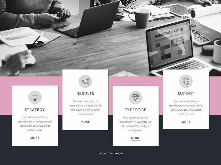 Strategy, planning, results Website Template
