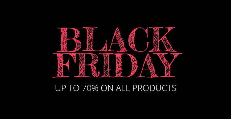 Black friday deals will be back Website Template