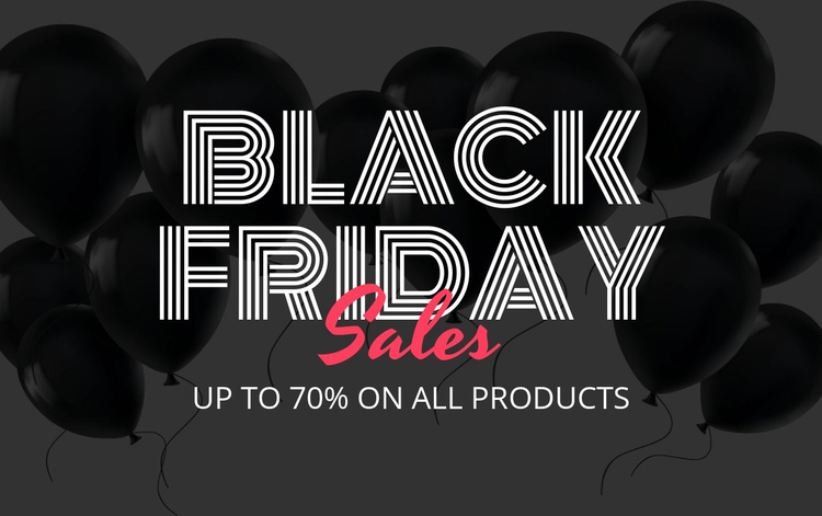 Up to 70% off on all products Website Template