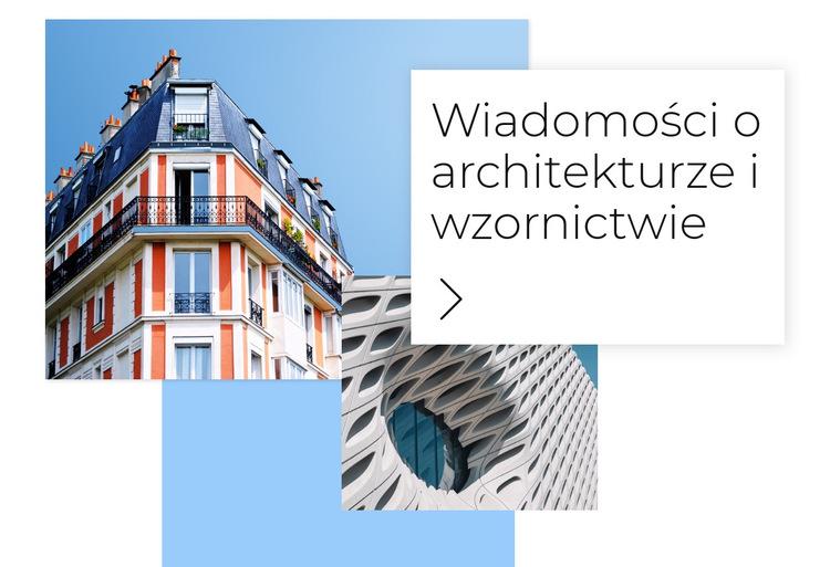 Wiadomości o architekturze Szablon witryny sieci Web