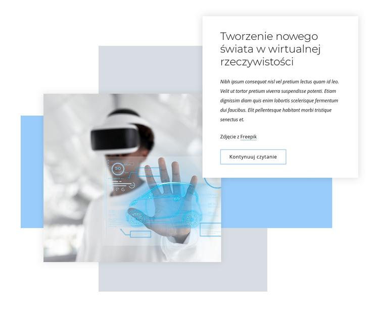 Nowy świat wirtualnej rzeczywistości Szablon witryny sieci Web
