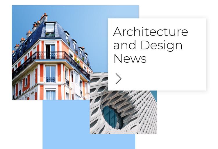 Architecture news Website Builder Software