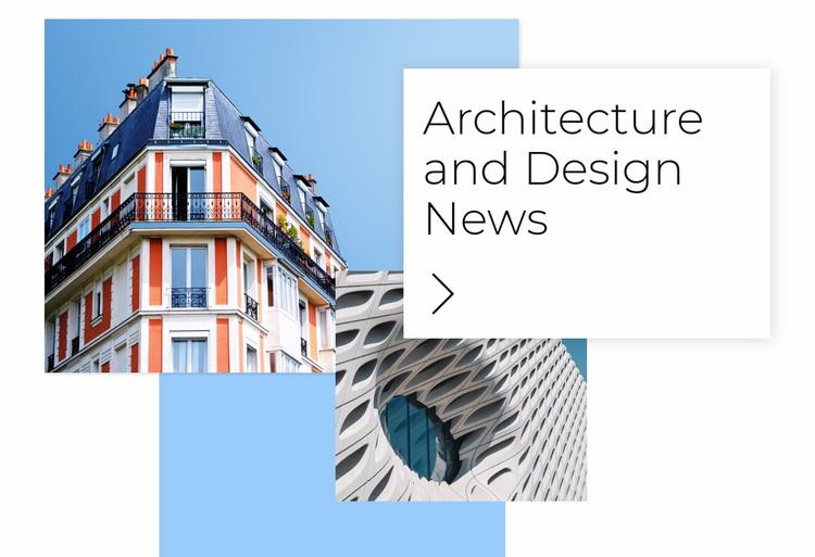 Architecture news Website Design
