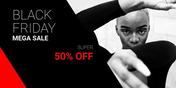 Black friday mega sale Html Website Builder
