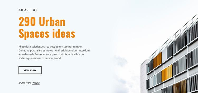 Urban spaces ideas Website Template
