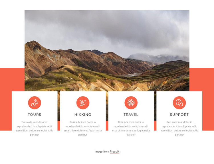 Our list of services WordPress Theme