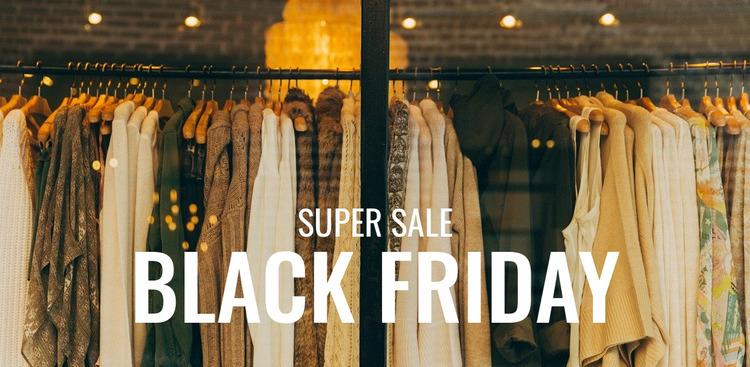 Black friday boutique sale Html Website Builder