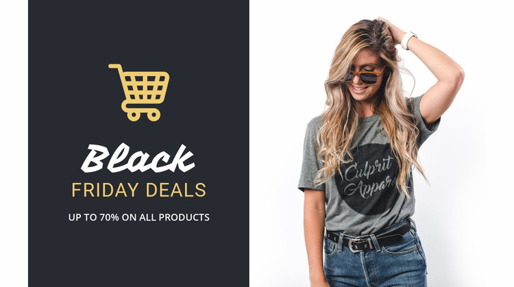 The best Black Friday deals Website Template
