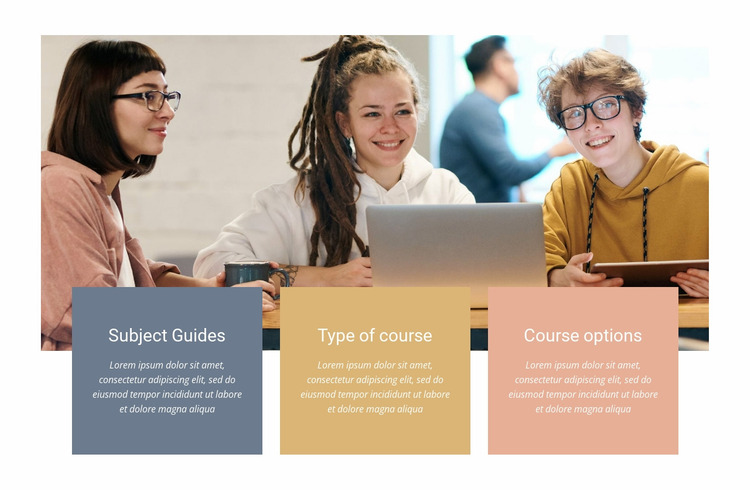 Perfect courses for anyone Website Mockup