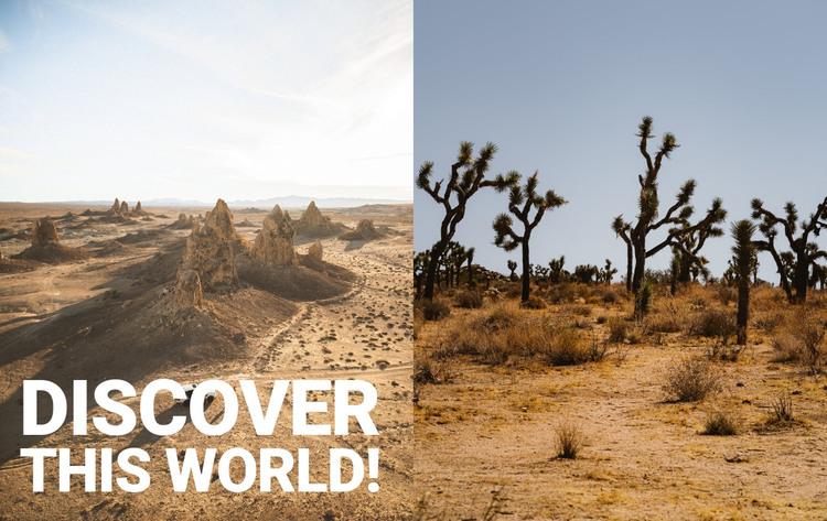 Endless deserts HTML Template