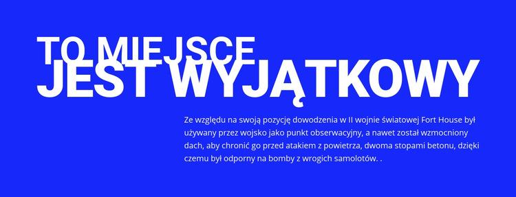 Tytuł, tekst na niebieskim tle Szablon witryny sieci Web