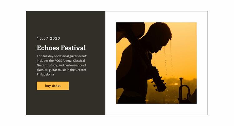 Music festival and Entertainment WordPress Website Builder