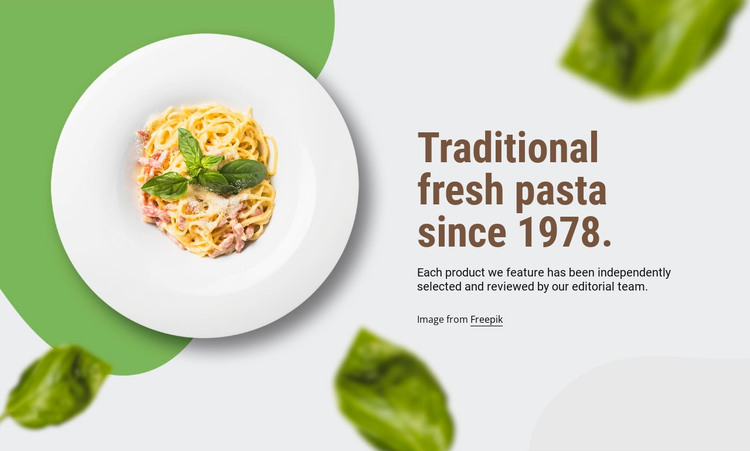 Traditional pasta HTML Template