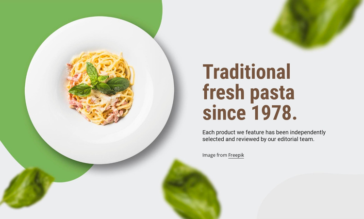 Traditional pasta Website Template