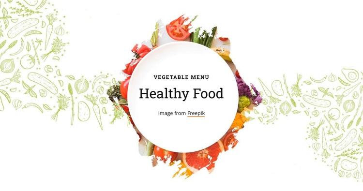 Vegetable menu Html Code Example