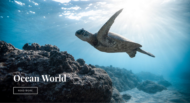 Underwater ocean world HTML Template