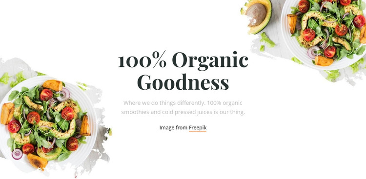 Organic goodness HTML Template