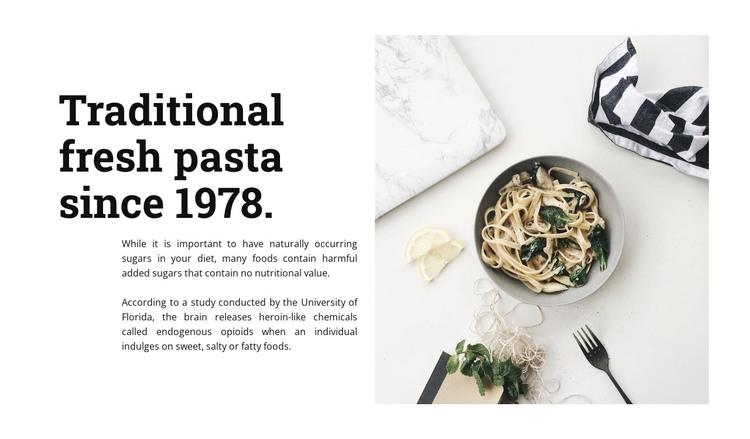 Fresh pasta HTML Template