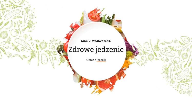 Menu warzywne Szablon witryny sieci Web