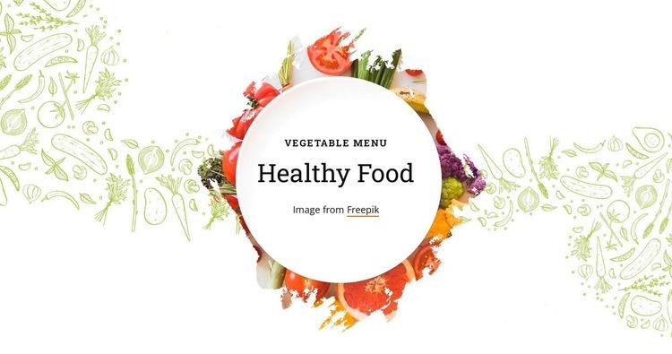 Vegetable menu Web Page Designer