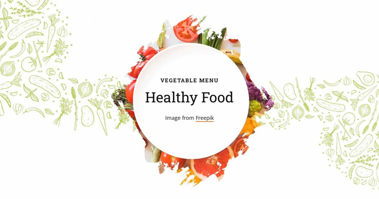Vegetable menu Website Template