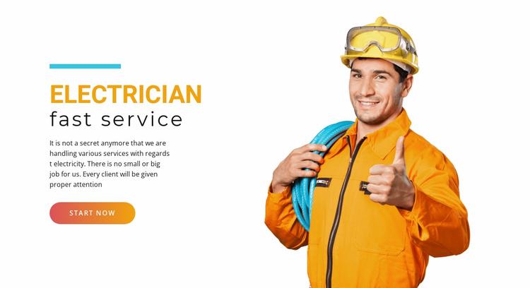 Quick electric service Website Template