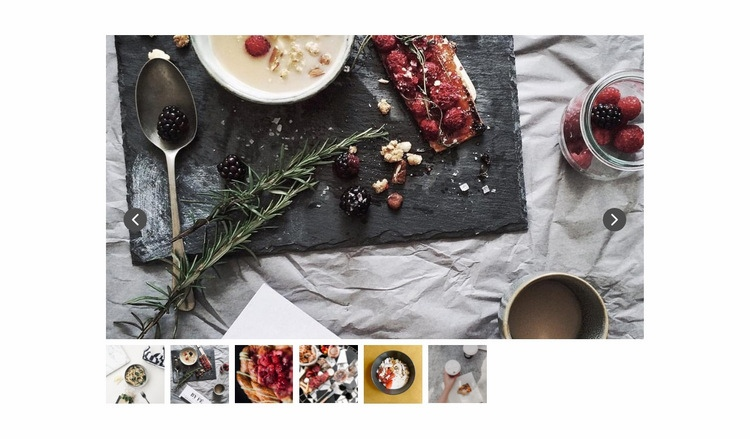 Slider with food photo Html Code Example