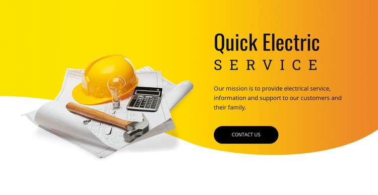 Electric services HTML Template