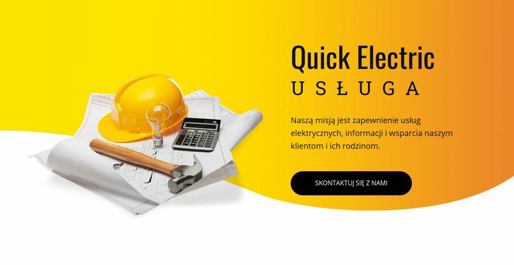 Usługi elektryczne Szablon Joomla