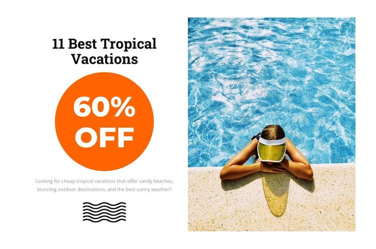 Tropical paradise Web Page Designer