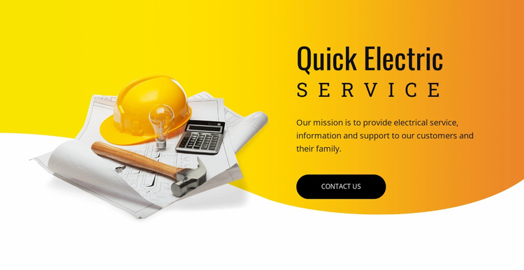 Quick electric service  WordPress Website Builder