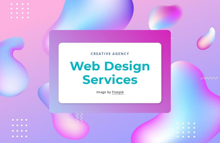 Web design services HTML Template