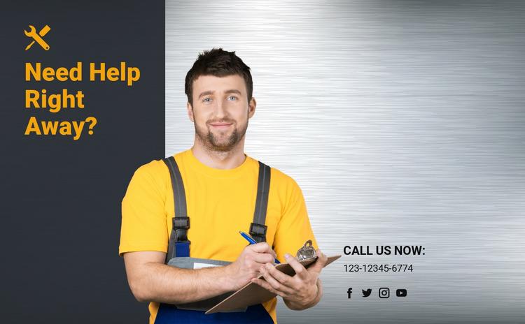 Home remodeling services Website Mockup