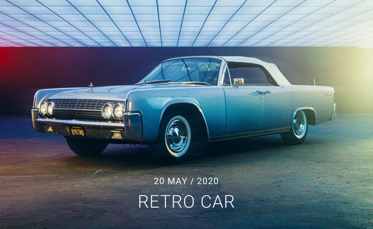 Restoration of retro cars Website Template