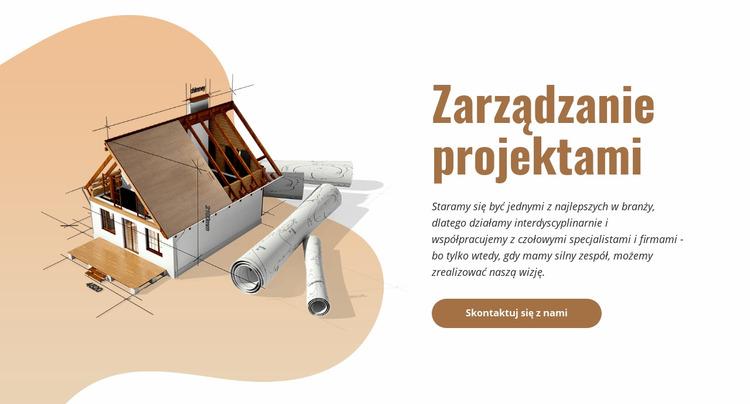 Zarządzanie projektem budowlanym Szablon Joomla