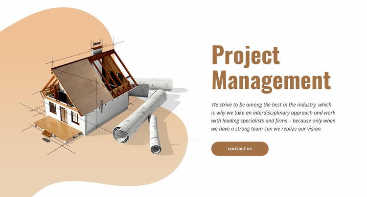 Construction project management Website Mockup