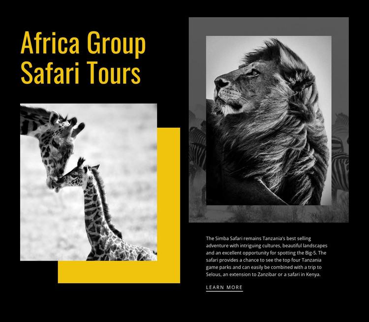 Travel safari tours HTML Template