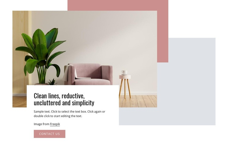 Clean lines and simplicity Web Page Design