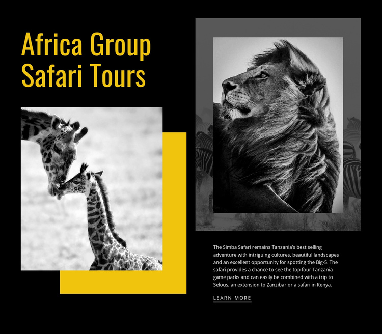 Travel safari tours Website Template