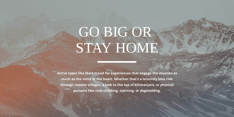 Custom designed adventures Website Template