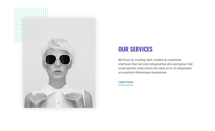 About our services  WordPress Template