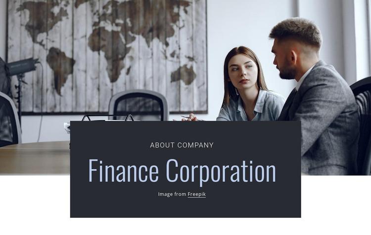 Finance corporation WordPress Theme