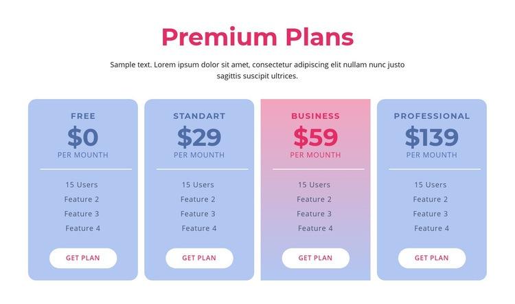 Premium hosting plans Web Page Design