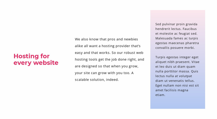 Text with gradient Website Template