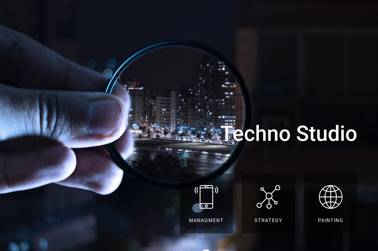 Technology and equipment studio CSS Template