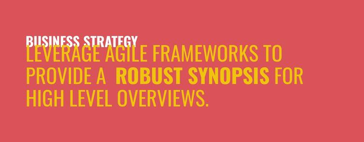 Frameworks to provide  Website Template