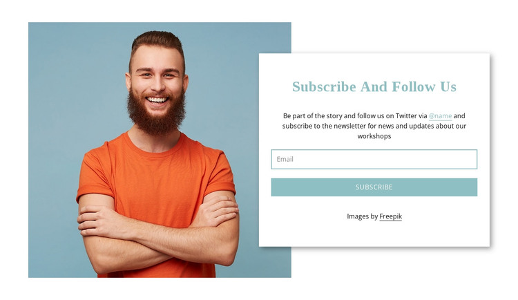 Subscribe to us HTML Template